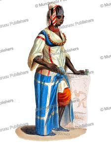 slave servant in algeria, duverger, 1844