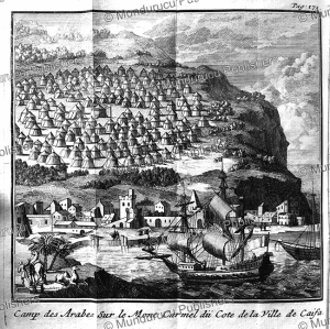 Arab camp at Mount Carmel near Caifa (Haifa), Arabia, J. Wandelaar, 1718 | Photos and Images | Digital Art