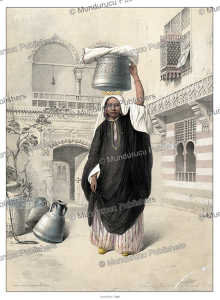 Young tattooed Arab girl returning from the bath, d'Avennes Prisse, 1851 | Photos and Images | Digital Art