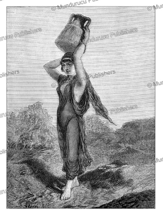 Arab girl carrying water from a well, The Graphic, 1878 | Photos and Images | Digital Art
