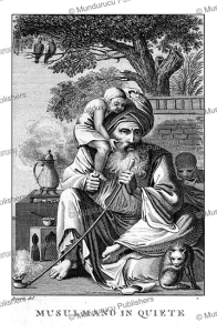 arab muslim at rest, vivant denon, 1835