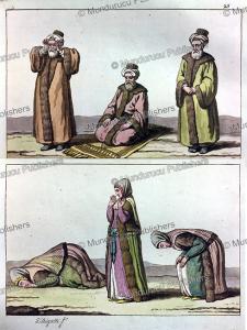 Praying Arab men and women, G. Bigatti, 1815 | Photos and Images | Digital Art