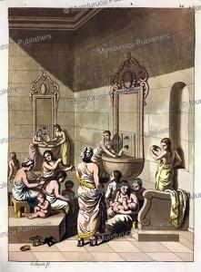 Public bath for women, G. Bigatti, 1815   Photos and Images   Digital Art