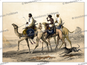 Aba^bdeh riding dromedaries, d'Avennes Prisse, 1851 | Photos and Images | Digital Art