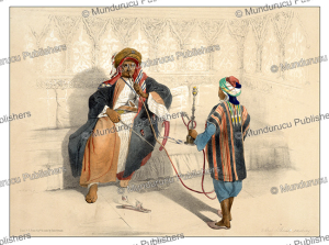 Arab sheikh smoking a waterpipe, d'Avennes Prisse, 1851 | Photos and Images | Digital Art