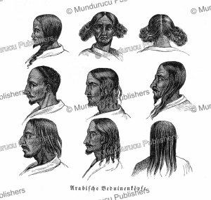 Different heads of Bedouin Arabs, Richard Burton, Arabia, 1857 | Photos and Images | Digital Art