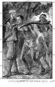 black slave with his arabian guard, 1891