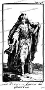 princess to be married to the great emir, arabia, j. wandelaar, 1718