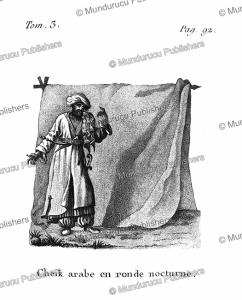 Arabian sheik on his nightly round, Arabia, F. Massard, 1816   Photos and Images   Digital Art
