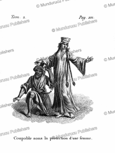 A guilty man seeks the protection of a woman, Arabia, F. Massard, 1816 | Photos and Images | Digital Art