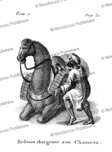 Bedouin loading his camel, Arabia, F. Massard, 1816   Photos and Images   Digital Art