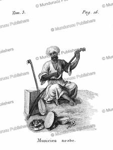 Arabian musician, Arabia, F. Massard, 1816 | Photos and Images | Digital Art