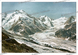 Tasman Glacier and the Hochstetter Dome, New Zealand, E.T. Compton, 1895 | Photos and Images | Digital Art