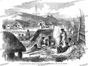 The Matata Pah, a refuge for the Maori Murderers of rev. Volkner, H. Robley, 1868 | Photos and Images | Digital Art