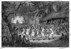 Dancing girls on Wallis Island, west of Samoa, Th. Weber, 1885 | Photos and Images | Digital Art