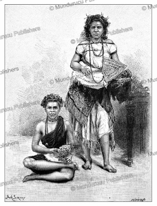 Samoan women, Samoa, Achille Sirouy, 1883 | Photos and Images | Digital Art