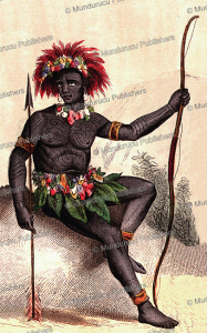 warrior of madison's island (nuka hiva), augsute wahlen, 1844