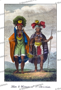 man and woman of st. christine or the marquesas islands, mary anne venning, 1817