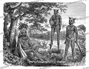 Chief and natives of the Marquesas Islands, Richard Oberlander, 1873 | Photos and Images | Digital Art