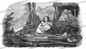 A woman takes care of a deceased at Nuka Hiva, L'Illustration, 1846 | Photos and Images | Digital Art
