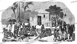 Funeral scene at Nuka Hiva, L'Illustration, 1847 | Photos and Images | Digital Art