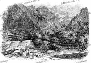 Akaoui¨ valley at Nuka Hiva, L'Illustration, 1846 | Photos and Images | Digital Art