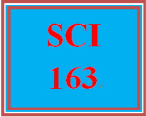 SCI 163T Wk 1 Week 1 Exam | eBooks | Education
