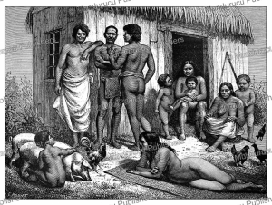 natives of tubuai island, austral islands in french polynesia, e. ronjat, 1885