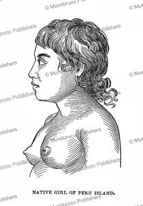 Native girl of Peru Island, Gilbert Islands, Charles Wilkes, 1845 | Photos and Images | Digital Art