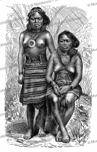 Wife and daughter of a chief of one of the Mortlock Islands, Wilhelm Kuhnert, 1893 | Photos and Images | Digital Art