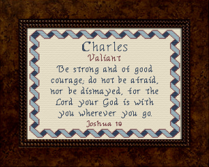Name Blessings - Charles | Crafting | Cross-Stitch | Other