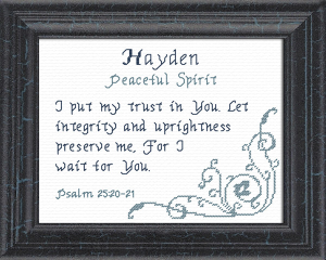 Name Blessings - Hayden | Crafting | Cross-Stitch | Other