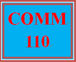 COMM 110 All Discussions | eBooks | Education