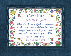 Name Blessings - Coraline | Crafting | Cross-Stitch | Other