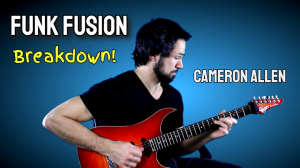 funk fusion guitar performance