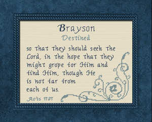 Name Blessings - Brayson | Crafting | Cross-Stitch | Other