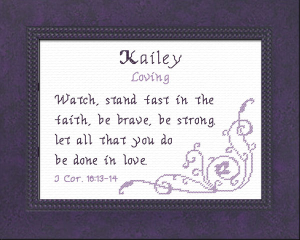 Name Blessings - Kailey 2 | Crafting | Cross-Stitch | Other
