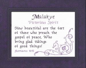 name blessings - malakye