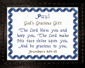 Name Blessings - Paul | Crafting | Cross-Stitch | Other