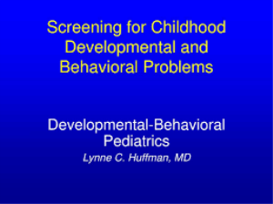 behavioral disorders' screening, assessment and classifying