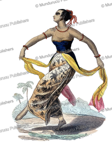the dancing woman of java, s, 1844