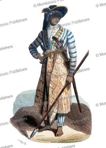 javanese man in war costume, van cauberghe, 1844