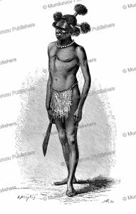 a papuan alfur of numfoor island, e. mesples, 1879