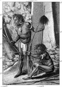 man-eating karon papuas, e. mesples, 1879
