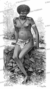 Young Papuan woman from the Arfak mountains, West Papua, E. Mesples, 1879 | Photos and Images | Digital Art