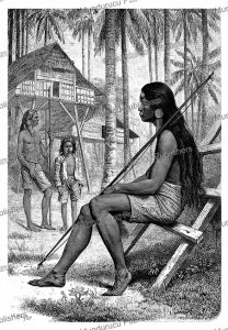 a warrior of the guianga tribe, the philippines, e. ronjat, 1884