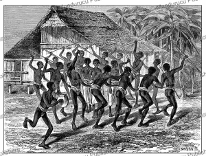 Young Negrito men dancing at a wedding on the Island of Luzon, Philippines, Dosso, 1884 | Photos and Images | Digital Art