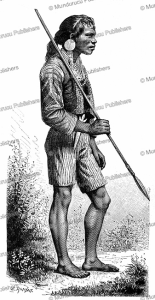 a mandaya warrior of mindanao, the philippines, e. ronjat, 1883