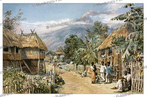A Tagalog (Igorot) village on Luzon, Philippines, E.T. Compton, 1892 | Photos and Images | Digital Art