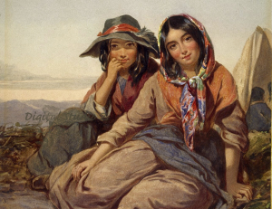 gypsy girls in a 8.5x11 jpeg file format ready to print and use